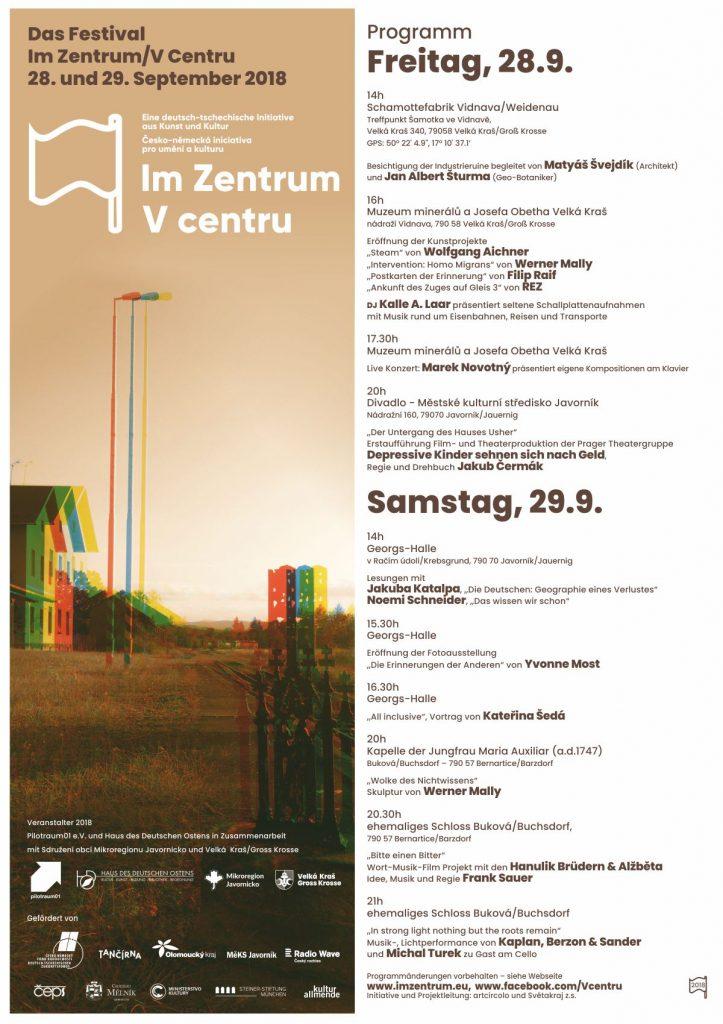 Im Zentrum 2018 Programm deutsch
